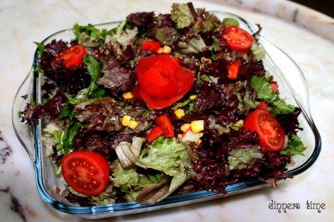 karışık roka salatası