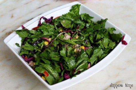 Ton Balıklı Roka Salatası