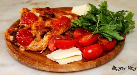 lavaş ekmeğinden pizza